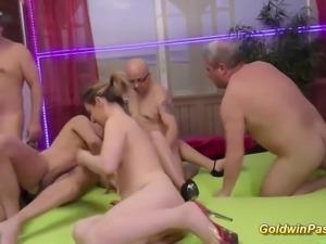 sexy girls in wild groupsex orgy
