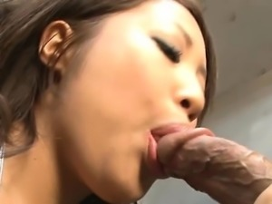 Cute japanese with sexy zeppelins masturbates with toys