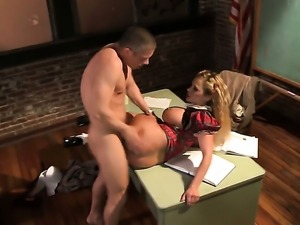 Well-endowed tart Shyla Stylez with huge hooters does lewd things and then...