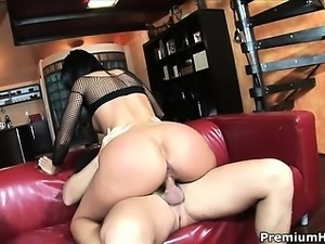 Hot pervert getting drilled in her wet pink, tight butthole
