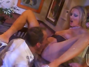 Diana Doll satisfies mans sexual desires and then gets covered in man goo