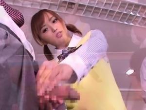 Asian schoolgirl bukkake faced