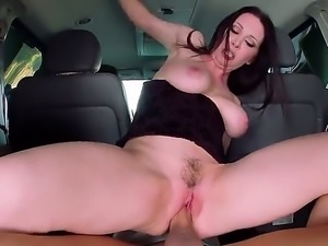 RayVeness is a milf with huge tits. She is trying to sell a van to a costumer...