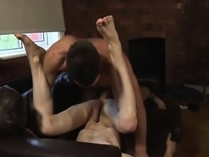 Mature gay sissy gangbangs plunging their fuck-sticks into h