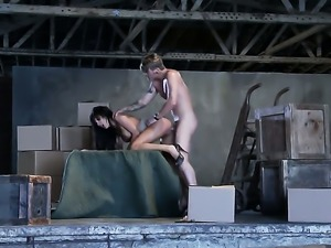 Busty lady is being penetrated