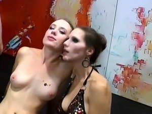 Kinky skank swallows cum
