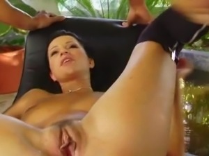 Giant real boobed Tera Bond has have tiny clam shaged by A lucky man who then...