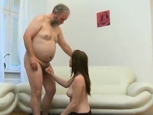 Sweet young seductress acquires fucked hard by old pecker
