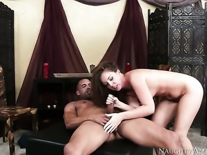 Small tits babe is getting dick inside