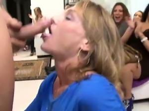CFNM amateur sucks cock gets cum facial from stripper