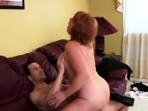 Redhead mature tongued and screwed