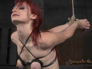 blindfolded babe whipped and mouth fucked