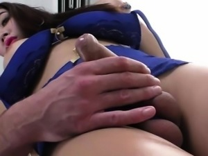 Sultry asian ladyboy Emma rams a guys ass in hardcore
