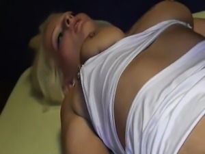 Brutally fisting her cavernous greedy snatch