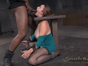 milf gets restrained and mouth fucked