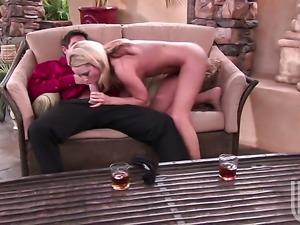 Irresistibly hot porn diva Kiara Diane satisfies dudes sexual needs and...