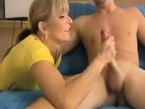 Milf Finds Young Guy Masturbating In Room