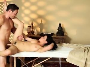 Honey spermed by masseur