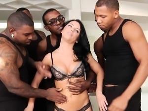 Abella Danger interracial anal gangbang