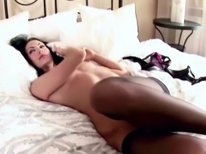 MILF Mother In Stockings Fuck by 2 Friends of her Son