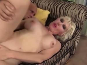 Skinny blonde MILF has her cunt penetrated