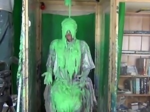 Eww! Gross Nasty Slime Is Dumped On A Girl For Cheating On Her Boyfriend