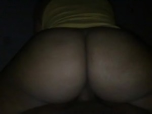 Thick redbone stripper riding reverse cowgirl