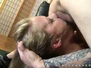 Brittney Cruise extreme mouth fucking