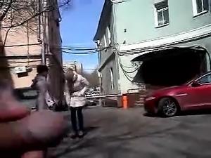 Fuckin hot dickflash (springtime in Moskva)