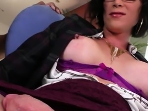 Big juggs tranny interracial anal sex by horny dude
