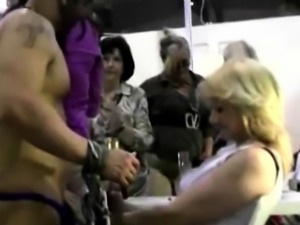Office amateurs jerking strippers after hours