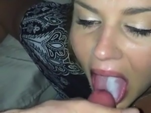 Girl Giving Head And Takes Cum In Mouth