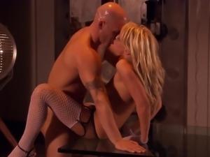 Derrick got her blondie date make strangled noises as he smashes her rough