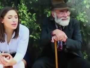 Teen slut fucked hard infront of her Old man
