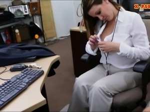 Busty MILF sells her watch and slammed by pervert pawn dude