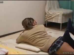Peeping Japanese teen Fujimoto Shion is exercise
