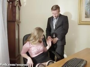 Pervy Boss Fucks His Hot Assistant!
