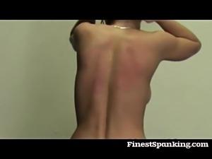 Blonde and brunette punished
