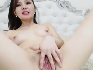 Slutty Japanese Chick Masturbate Hard on Cam