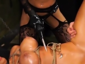 Fantastic Alexa Pierce with massive juggs gets punished hard