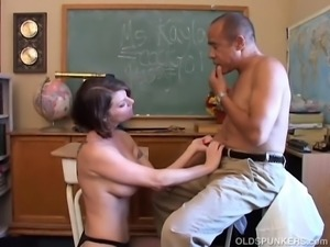 Beautiful busty MILF loves to suck your cock