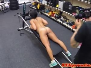 Real ebony pawnshop amateur workingout