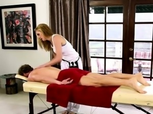 neat babes on special massage bed