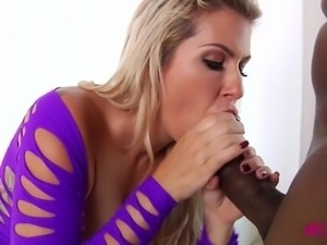 Hot blonde Savana Styles fucked by black cock