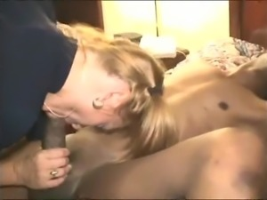 blonde woman likes her black friend and his big cock