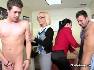 Office Hoes Play With Big Cocks Of Officemates