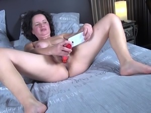 Being home alone all day long, Tanja often gets horny, but no one is around...