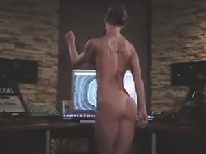 Hot pretty girl plays with sensuous Russian dance music