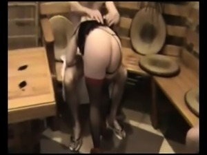 Slutty blonde housewife puts on her best lingerie and gets