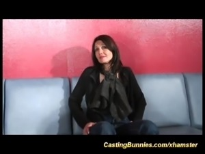 cute french casting babe ready for dp casting